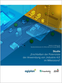 """Cover der Publikation Erschließen der Potenziale der Anwendung von """"Industrie 4.0"""" im Mittelstand"""
