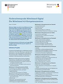 Cover der Publikation Förderschwerpunkt Mittelstand - Digital